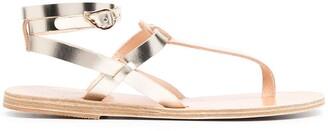 Ancient Greek Sandals Metallic Strap Sandals
