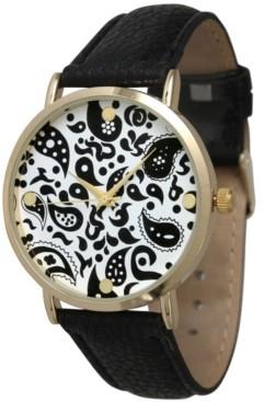 Olivia Pratt Paisley Leather Strap Watch