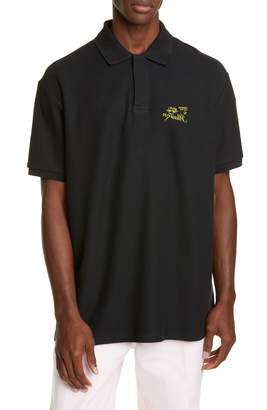 Raf Simons Illusion Embroidered Short Sleeve Pique Polo