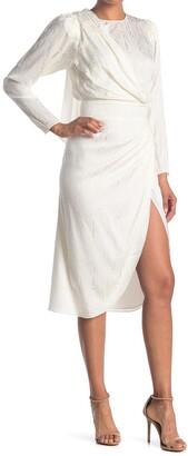 Ronny Kobo Jade Draped Wrap Skirt Dress