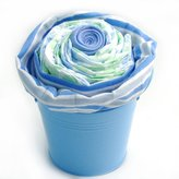 Nikki's Giant Cupcake Diaper Cake Gift Pail for Boys by Nikki's Gift Baskets