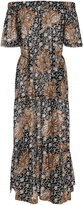 A.L.C. Doris Printed Off-The-Shoulder Cotton and Silk-Blend Dress
