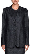 Giorgio Armani Denim Two-Button Jacket, Indigo Blue