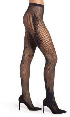 Natori Peacock Feather Net Tights