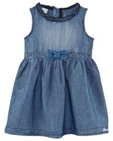 Diesel Blue Chambray Dress with Bow Detail