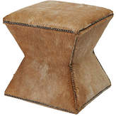 Massoud Furniture Althea Hair-on-hide Ottoman - Brown