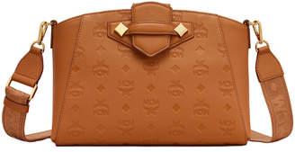 MCM Essential Monogrammed Leather Crossbody Bag
