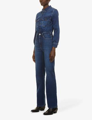 Frame Le Jane wide-leg stretch-denim jumpsuit