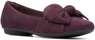 Clarks Collection By Gracelin Jonas Bow Suede Ballet Flats