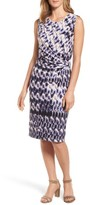 Nic+Zoe Petite Women's Lotus Side Twist Sheath Dress