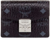 MCM Visetos Mini Accordion Card Wallet