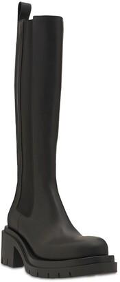 Bottega Veneta 70mm Lug Leather Tall Boots