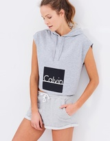 Calvin Klein ID Sleeveless Crop Hoodie