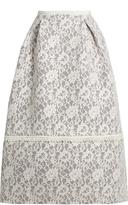 Erdem Kennedy floral-lace skirt