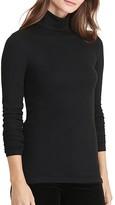 Lauren Ralph Lauren Ribbed Jersey Turtleneck Tee