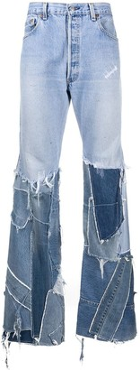 Gallery Dept. Patchwork Bootcut Jeans