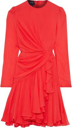 Giambattista Valli Wrap-effect Draped Silk-chiffon Dress