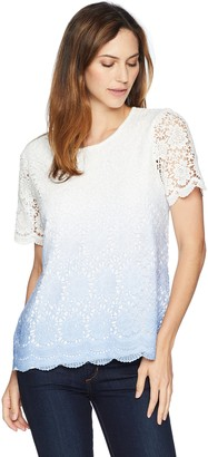 Alfred Dunner Women's Ombre lace tee Shirt
