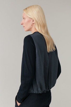 Cos Woven Top With Woven Back