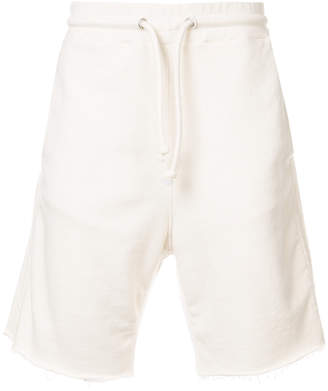 Maison Margiela drawstring fitted shorts white