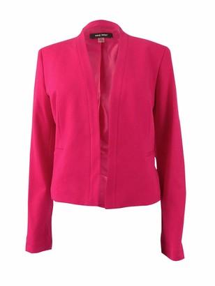Nine West Women's Solid Ponte Kiss Front Jacket