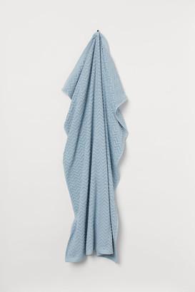 H&M Jacquard-weave Bath Sheet - Turquoise