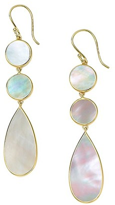 Ippolita Polished Rock Candy 18K Yellow Gold & Mother-Of-Pearl Triple Drop Earrings