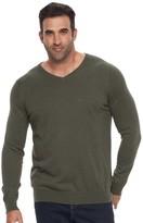 Croft & Barrow Big & Tall True Comfort Classic-Fit Easy-Care V-Neck Sweater