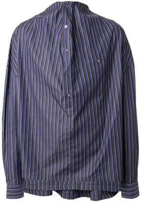 Y/Project Draped Striped Shirt