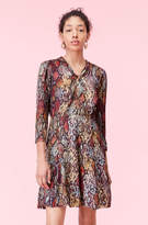 Rebecca Taylor Watercolor Snake Hammered Silk Dress