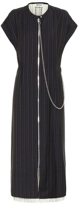 Acne Studios Pinstriped midi dress