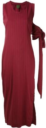 Romeo Gigli Pre-Owned long pinstripe dress