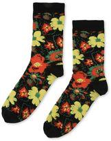 Stella McCartney black foolish flowers socks