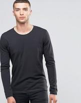 Sisley Long Sleeve T-shirt With Raw Neck