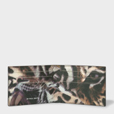 Paul Smith Men's Black Leather 'Tiger' Print Interior Billfold Wallet