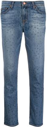 J Brand Star Print Jeans