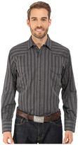 Roper 9733 Black Dobby Stripe