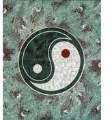 Old Glory Yin Yang Tapestry