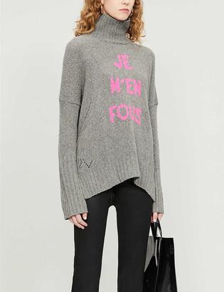 Zadig & Voltaire Alma turtleneck oversized wool jumper