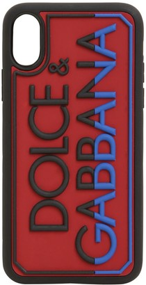 Dolce & Gabbana Logo Embossed Rubber Iphone X/Xs Cover
