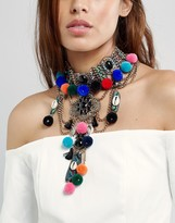 Aldo Tassel Layered Choker Necklace