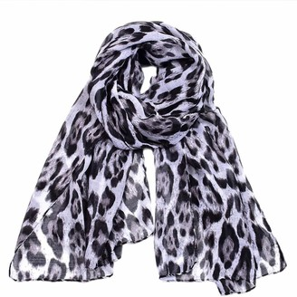Yelyan Fashion Leopard Print Scarf for Women Ladies Animal Print Scarves Floral Neck Scarf Shawl Wrap
