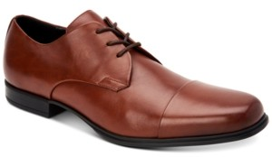 Calvin Klein Men's Dominick Crust Leather Oxfords Men's Shoes