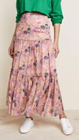 Cynthia Rowley Havana Ruffle Maxi Skirt