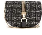 Lanvin Lien Bouclé-tweed leather cross-body bag