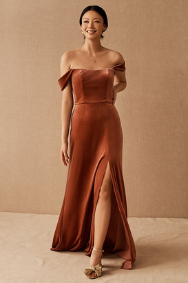 Jenny Yoo Issa Velvet Dress By in Pink Size 18