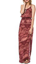 O'Neill Kravitz Printed Strappy-Back Smocked Maxi Dress