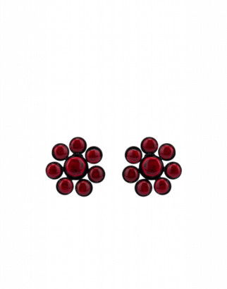 Moschino Flowers Earrings Woman Red Size U It - (one Size Us)