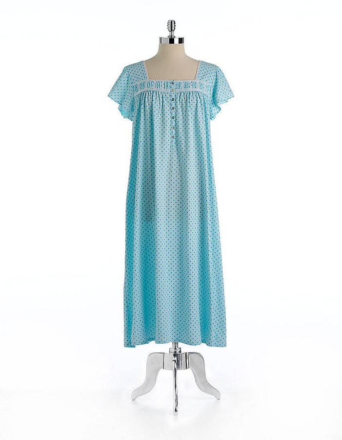 Eileen West Dot Printed Long Sleep Gown