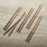 Crate & Barrel Set of 5 Striped Bamboo Chopstick Pairs